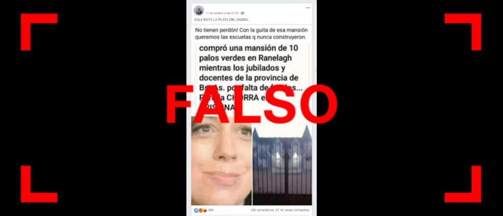 Es falso que Vidal compró una mansión en Berazategui por US$ 10 millones