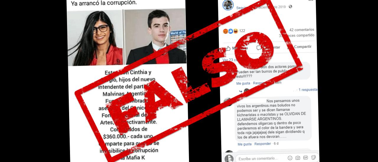Es falso que los hijos del intendente de Malvinas Argentinas trabajan en el Conicet y cobran $360 mil