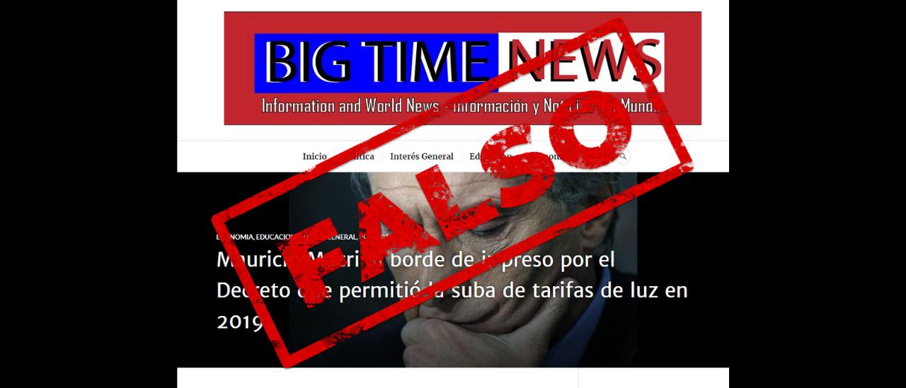 """Es falso que Macri está al borde de ir preso por un decreto de 2019, según el """"New York Wines"""""""