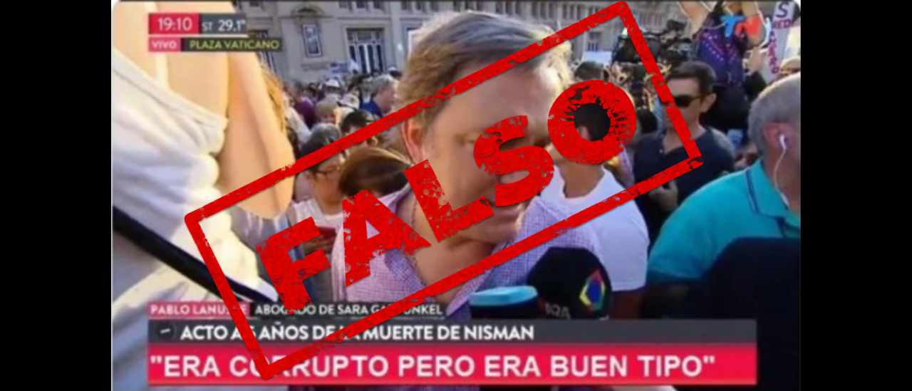 """No, el abogado de la mamá de Nisman no dijo en TN: """"Era corrupto pero buen tipo"""""""
