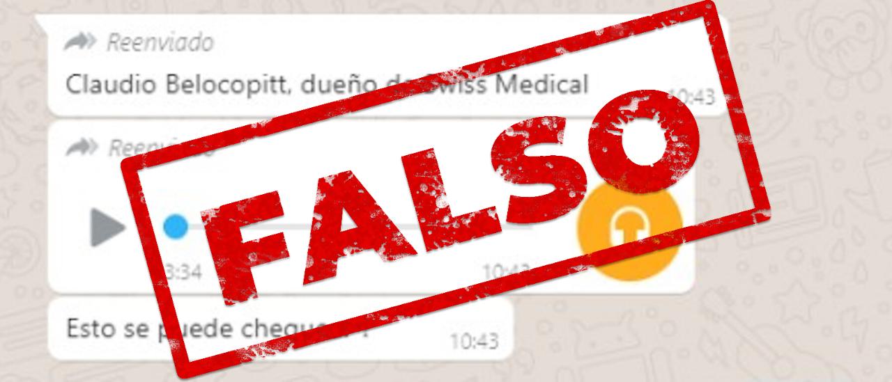 No, no es el dueño de Swiss Medical quien hizo recomendaciones contra el coronavirus por WhatsApp