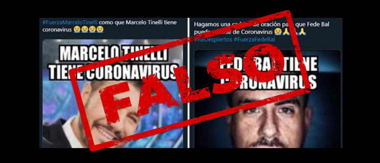 Coronavirus: dos desinformaciones sobre Marcelo Tinelli y Federico Bal se volvieron virales