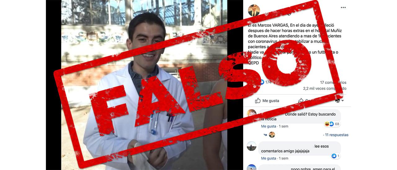 Es falso que un médico del hospital Muñiz falleció por atender pacientes con coronavirus