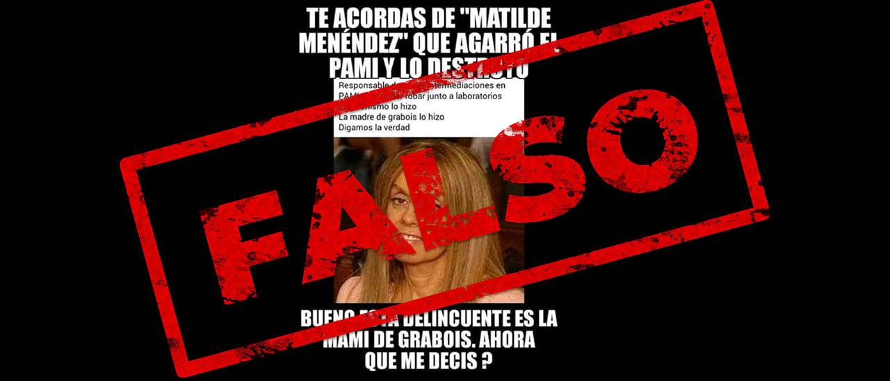No, Grabois no es hijo de una ex presidenta del PAMI acusada de corrupción