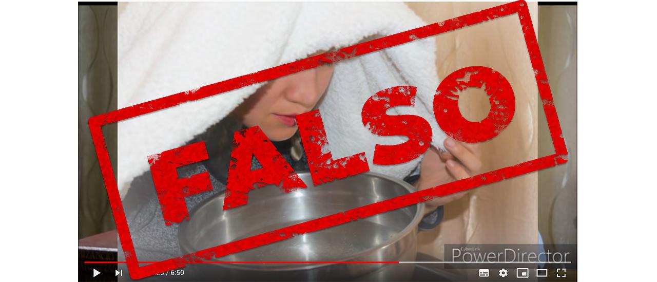No hay pruebas de que aspirar vapor de agua hirviendo desactive el coronavirus