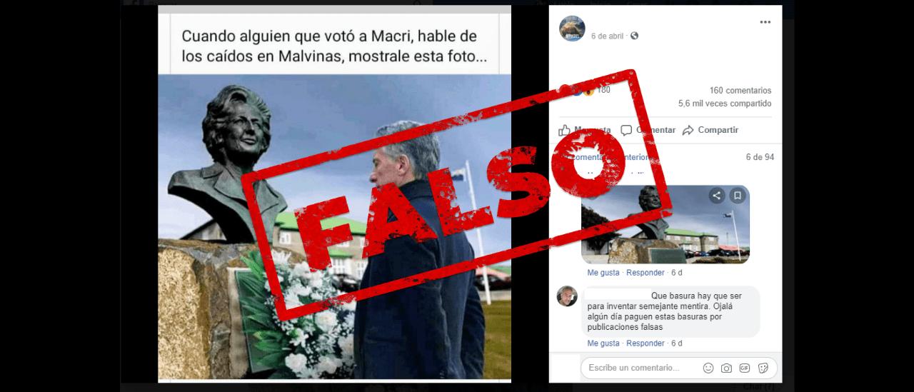 No, Macri no homenajeó a Thatcher en Malvinas