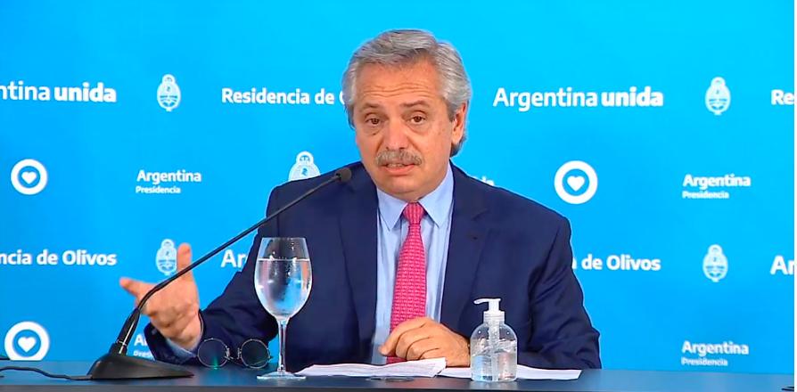 """Alberto Fernández: """"Por todas las medidas que nosotros tomamos fuimos  elegidos por la OMS para llevar adelante experimentos medicinales sobre el  coronavirus"""" - Chequeado"""