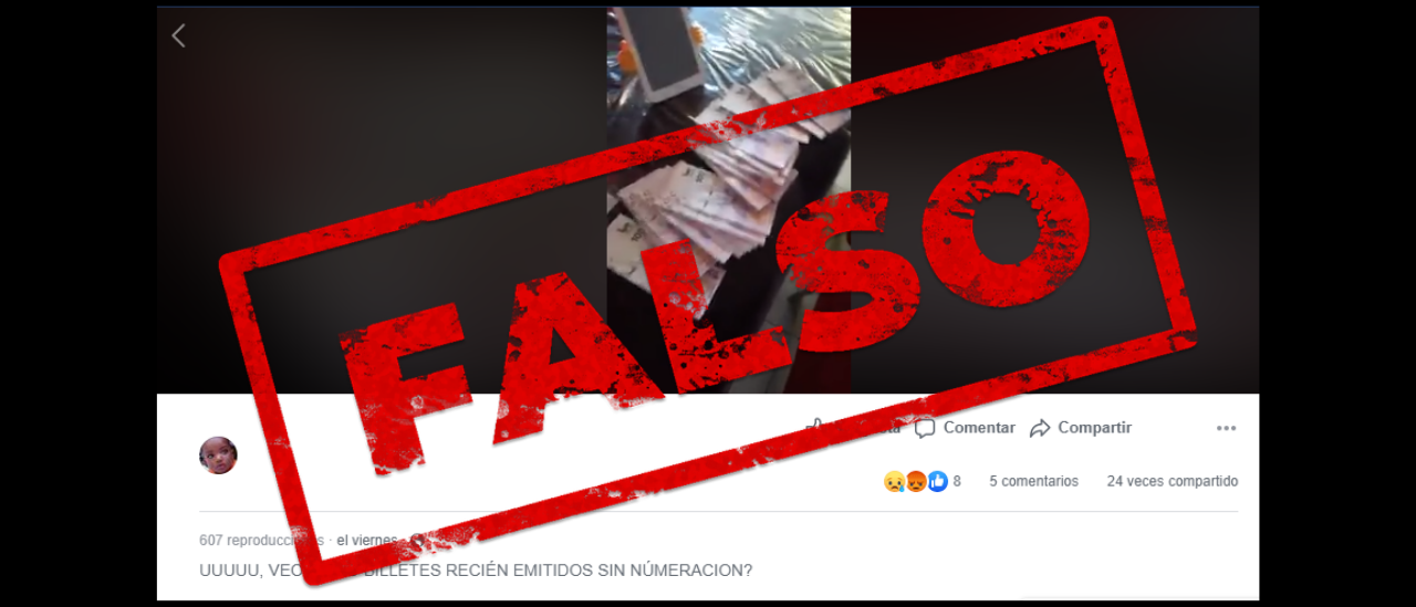 Es falso el video que afirma que los billetes de $ 100 no tienen numeración
