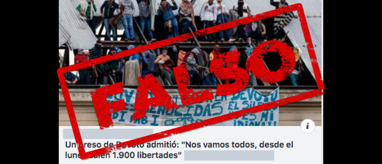 Es falso que saldrían liberados 1.900 reclusos de la cárcel de Devoto a partir del lunes