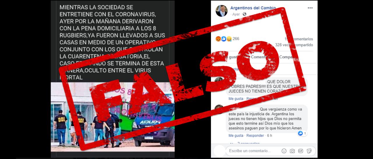 No, los rugbiers acusados del asesinato a Fernando Báez Sosa no están en sus casas