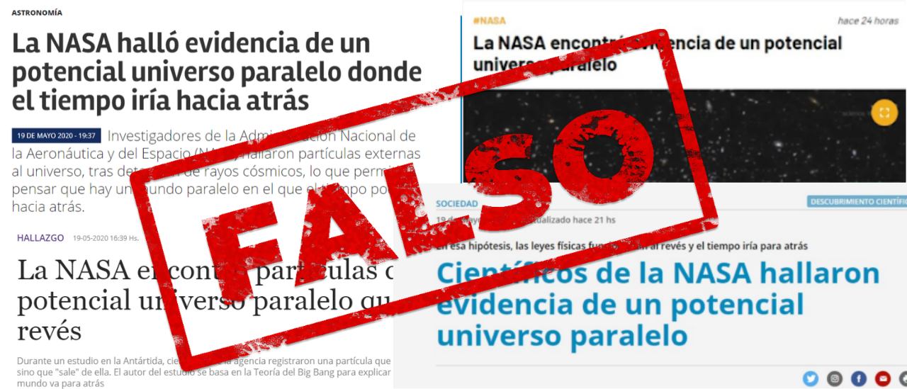 No, la NASA no encontró evidencias de un potencial universo paralelo