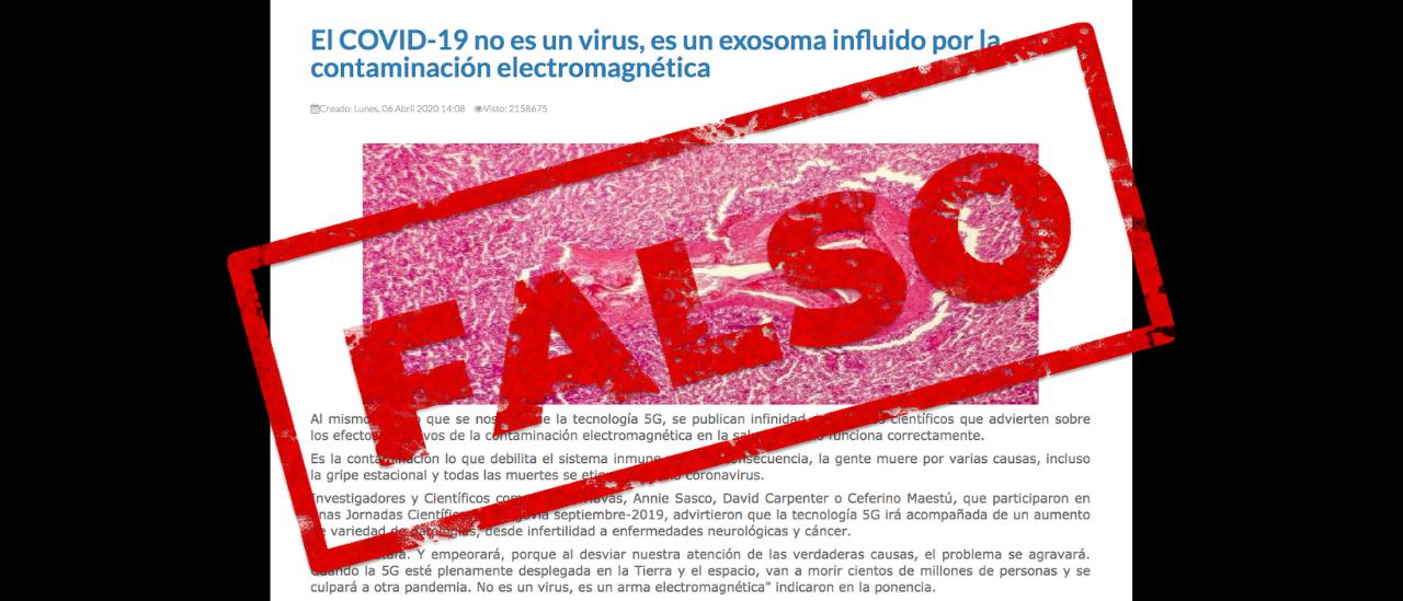 No, la COVID-19 no es un exosoma y la pandemia no se relaciona con las señales de 5G
