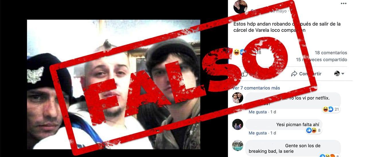 Es falso el posteo que muestra a 3 personas acusadas de robar tras salir de la cárcel de Florencio Varela