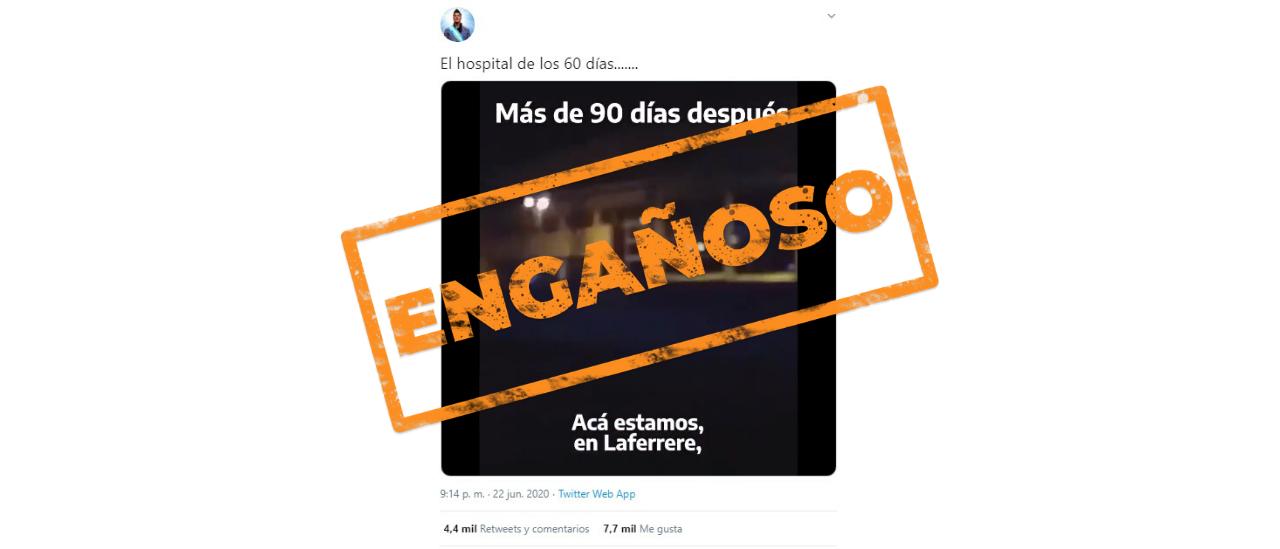Es engañoso el video que compara el avance de hospitales de La Matanza
