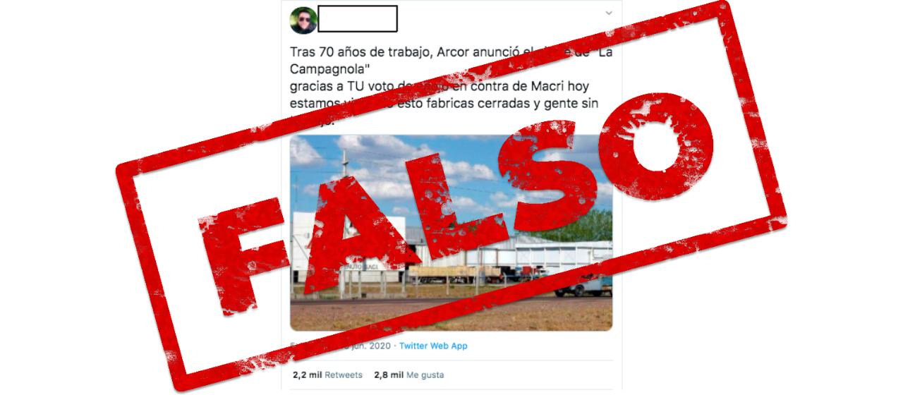 Es falso que La Campagnola cerró por la cuarentena: se trata de una noticia de 2019