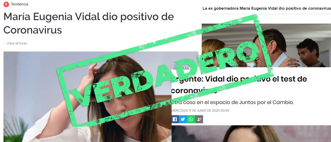 Es verdadero que Vidal dio positivo por coronavirus