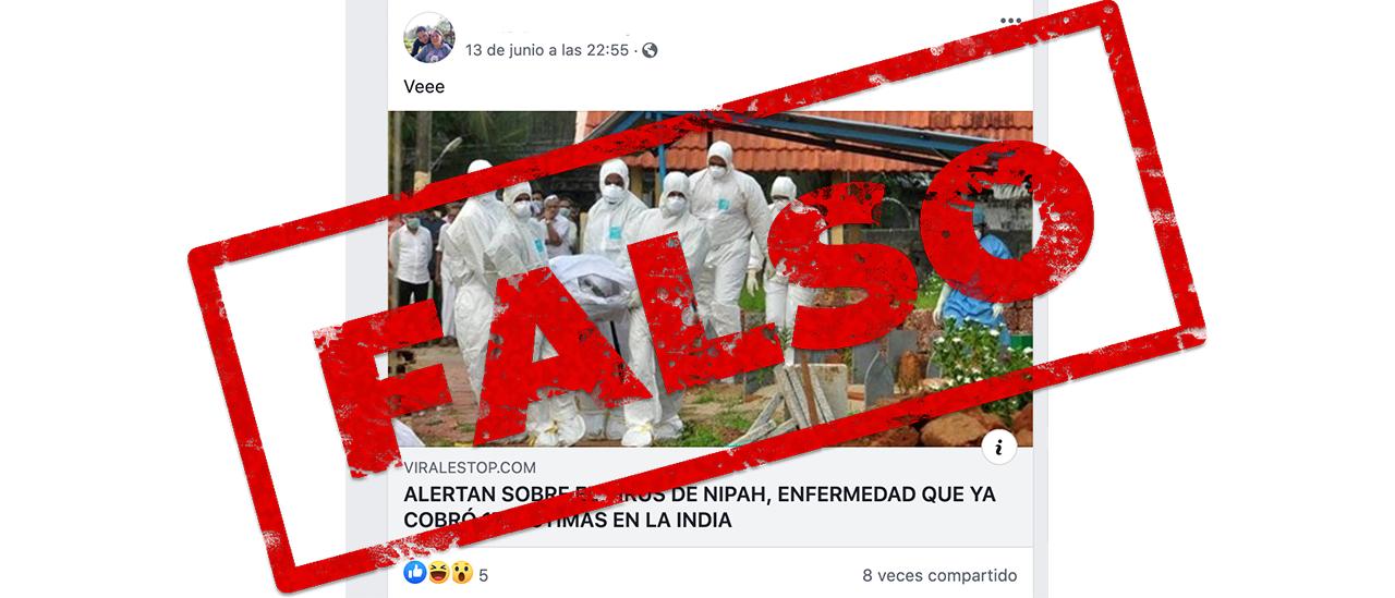 Es falso que la OMS alertó sobre un nuevo brote del virus Nipah