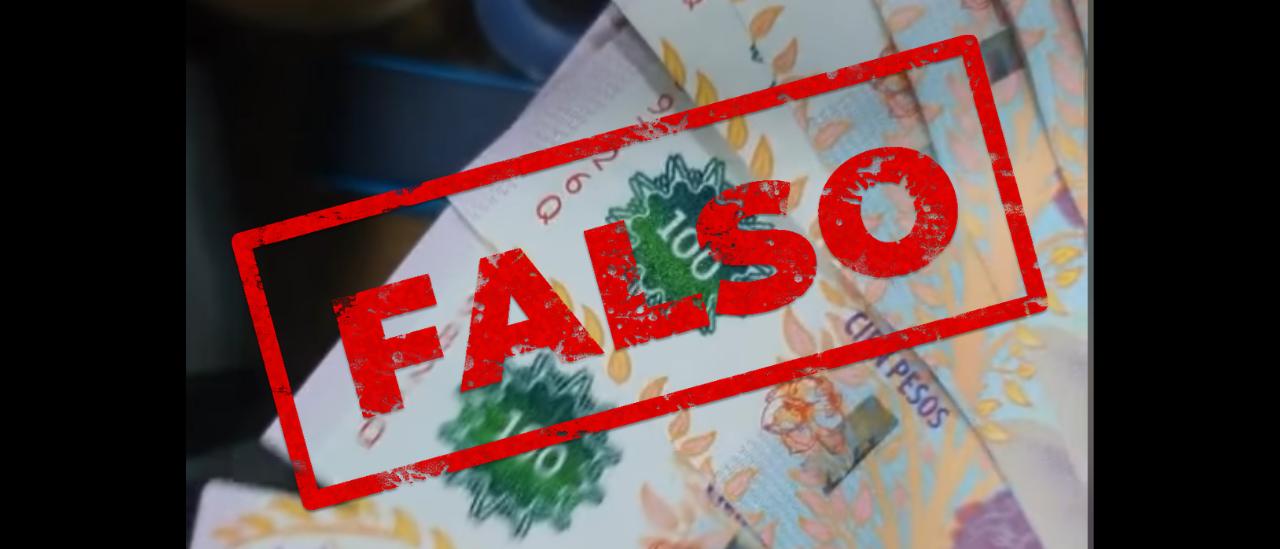Es falso el video que afirma que varios billetes de $100 están duplicados