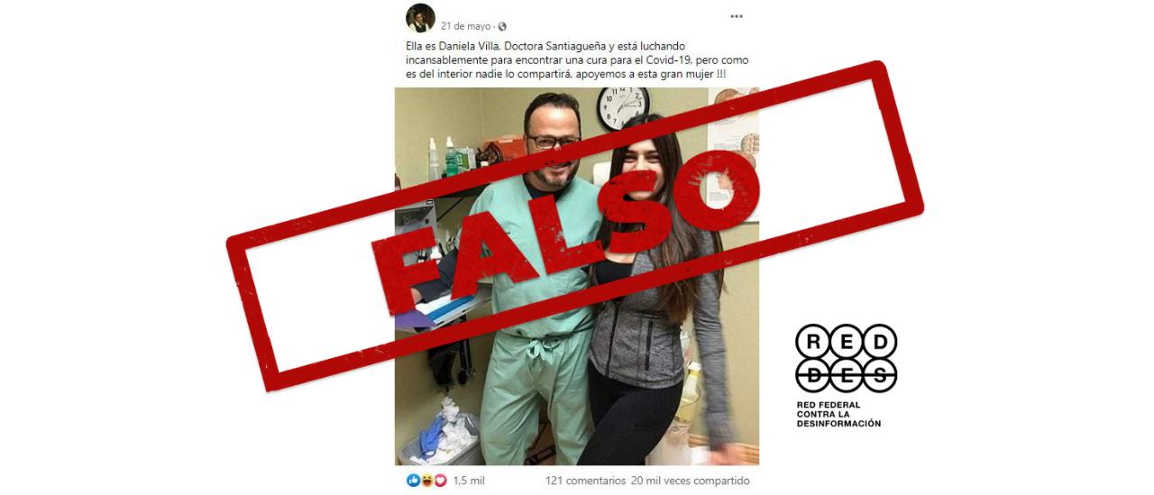 Es falso el posteo que presenta a una doctora santiagueña que lucha contra el coronavirus