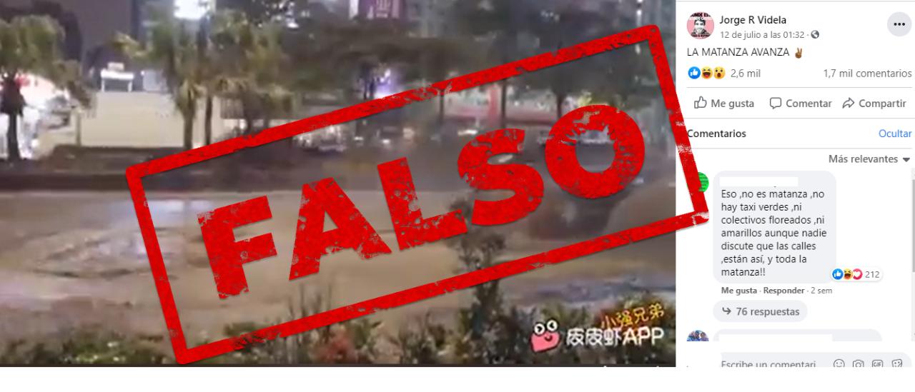 No, este video viral que muestra las calles con pozos no fue grabado en La Matanza