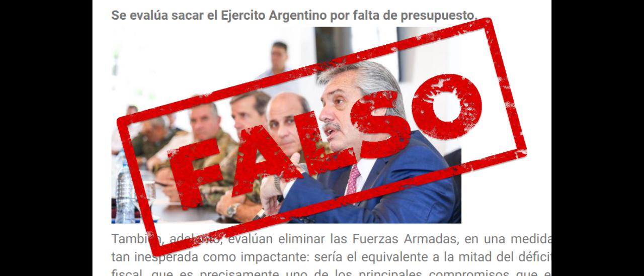 Es falso que el ministro Guzmán impulse eliminar el Ejército argentino por falta de presupuesto