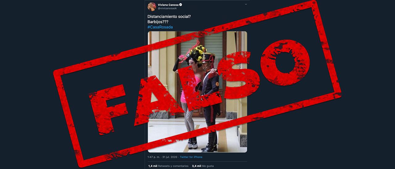 No, la foto que publicó Viviana Canosa de la Casa Rosada no es actual