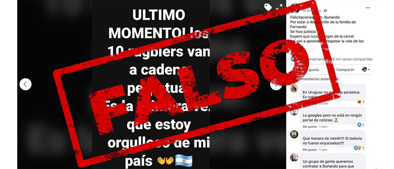 No, los rugbiers acusados de asesinar a Fernando Báez Sosa no fueron condenados a cadena perpetua