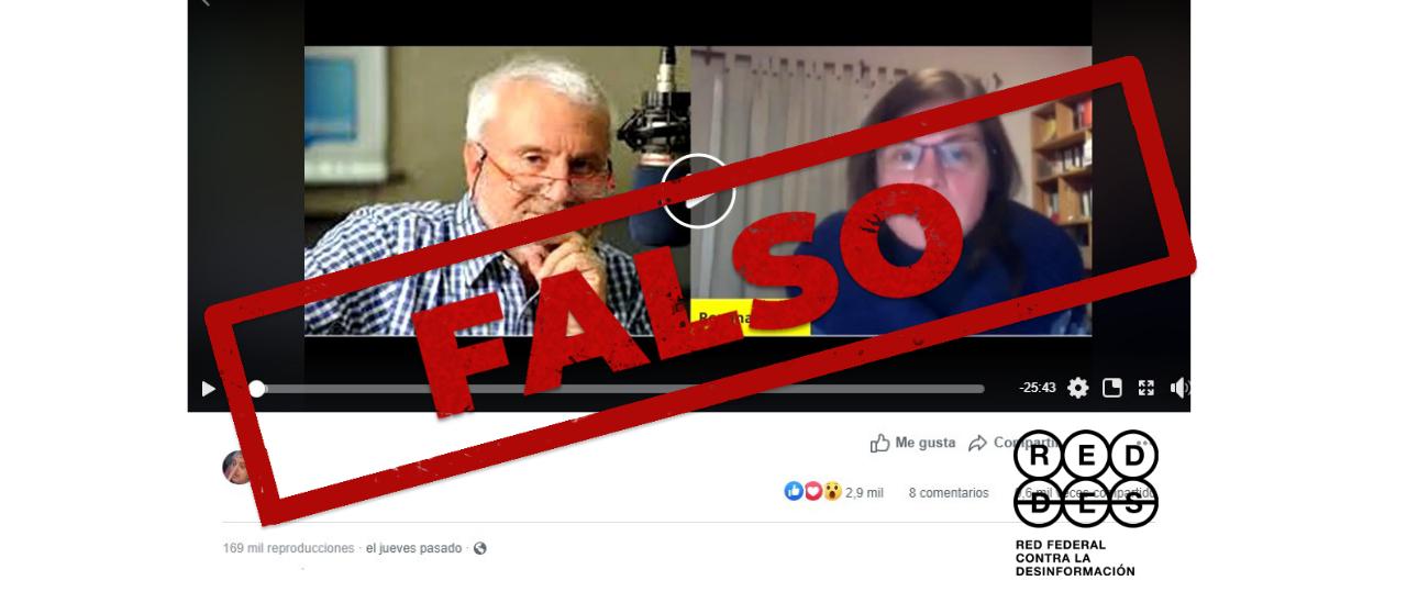 """Son falsas las afirmaciones de la inmunóloga Roxana Bruno, integrante de la agrupación """"Epidemiólogos Argentinos"""""""