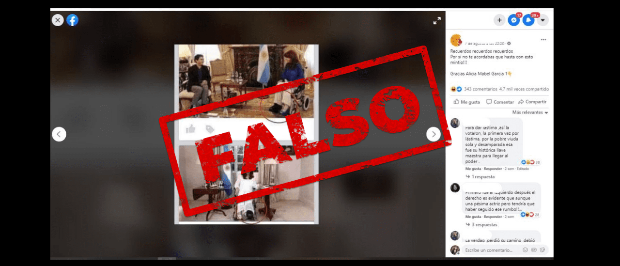 Es falso el posteo que señala que Cristina Fernández de Kirchner mintió con la fractura de tobillo en 2015