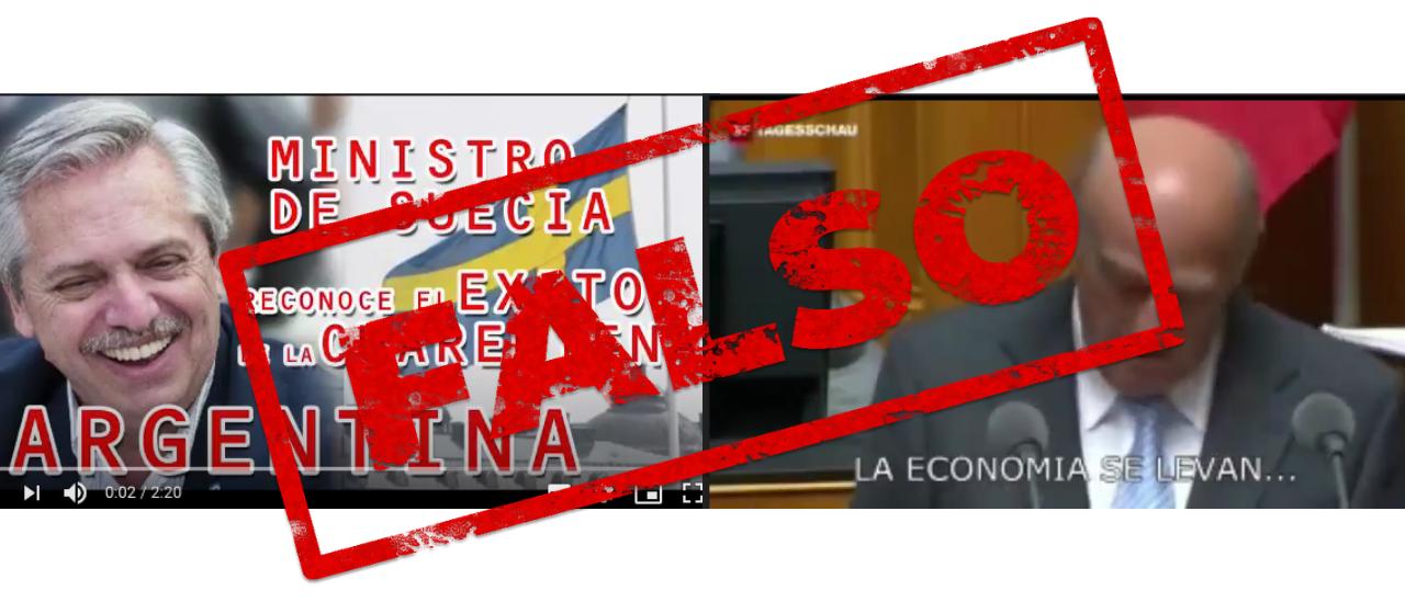 Es falso que un ministro de Suecia se rio de la cuarentena en la Argentina