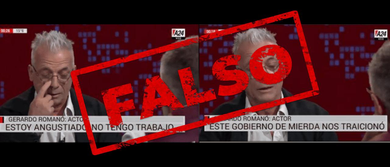 Son falsos los zócalos con frases atribuidas a Gerardo Romano
