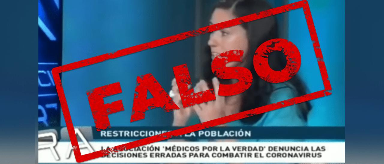 """Son falsas las afirmaciones sobre el coronavirus de la médica española de """"Médicos por la Verdad"""""""