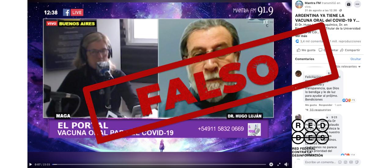 Es falso que la Argentina ya tenga la vacuna contra el coronavirus