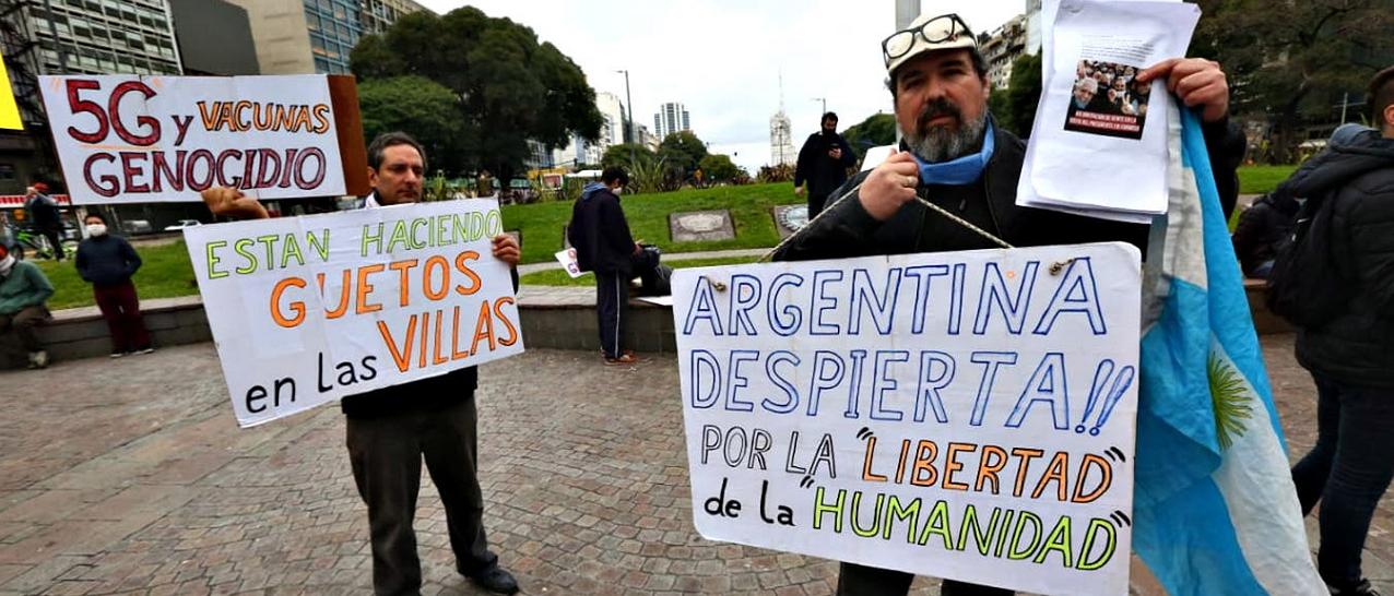 Cómo llegó y qué grupos difundieron en la Argentina la falsa teoría que vincula al coronavirus con el 5G