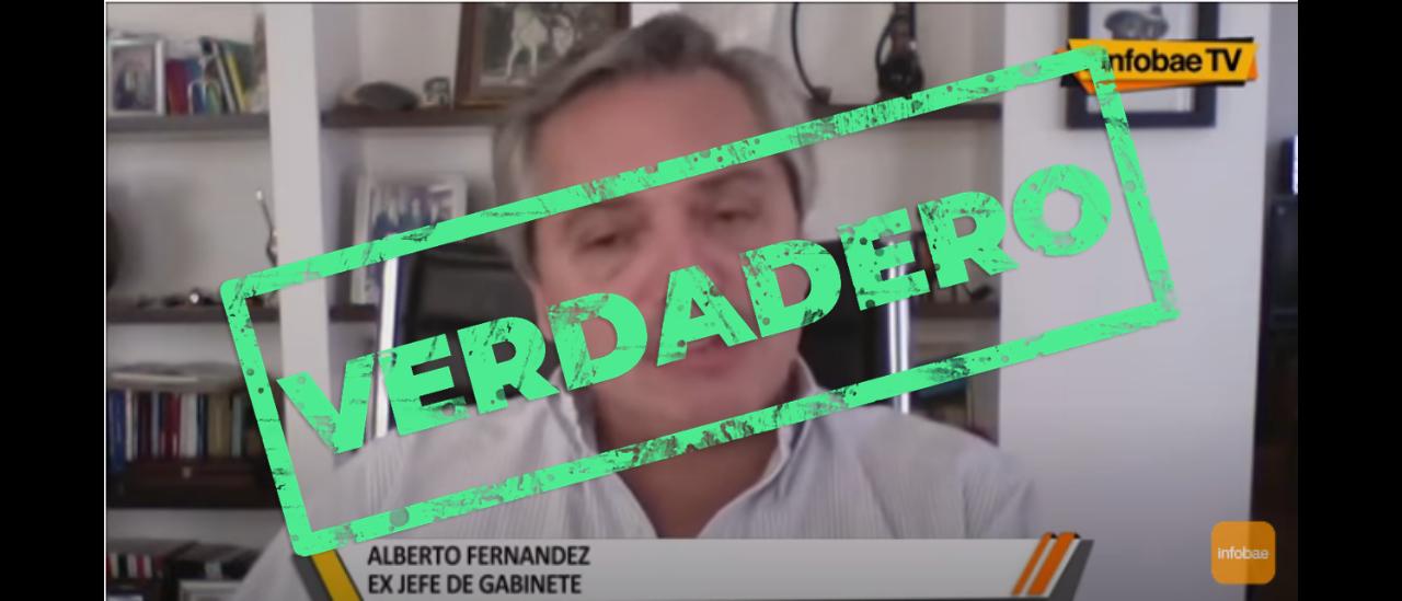 Es verdadera la entrevista donde Alberto Fernández critica a Cristina Fernández de Kirchner y Axel Kicillof