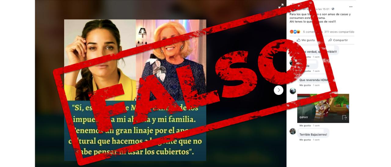 """No, Juana Viale no dijo: """"Macri eximió de los impuestos a mi abuela y a mi familia"""""""