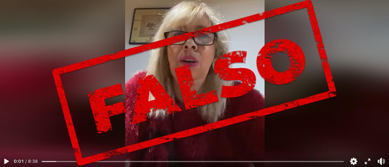 Son falsas las declaraciones de la doctora Madrid sobre la vacuna contra la COVID-19