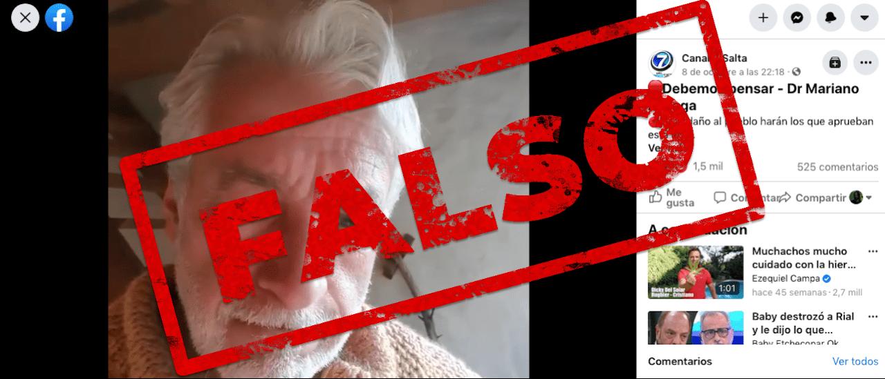 """Coronavirus: son falsas las afirmaciones de un médico """"por la verdad"""" sobre el proyecto de ley de vacunas"""