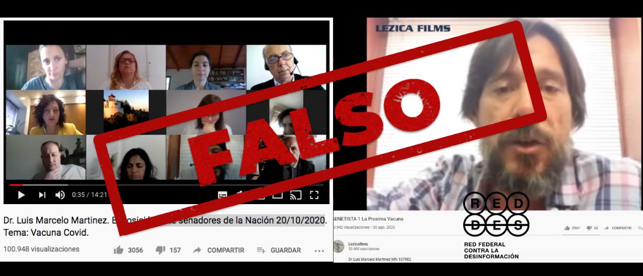 Son falsas varias afirmaciones del médico Luis Martínez que circulan en videos virales