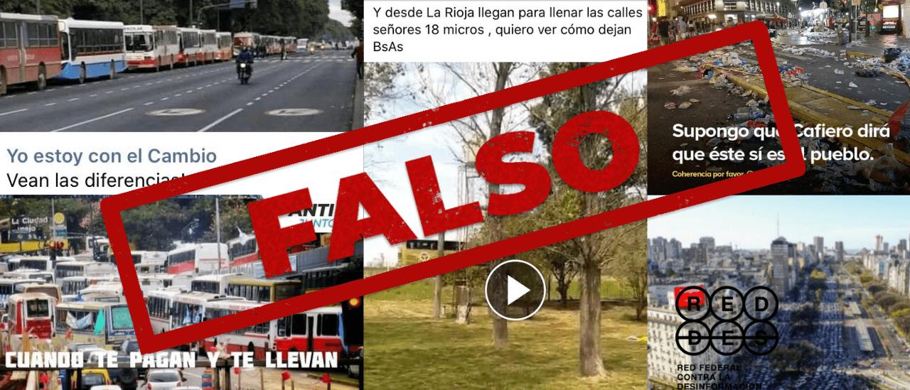 Crónica de las mentiras que circularon en redes sociales sobre la marcha del 17 de octubre