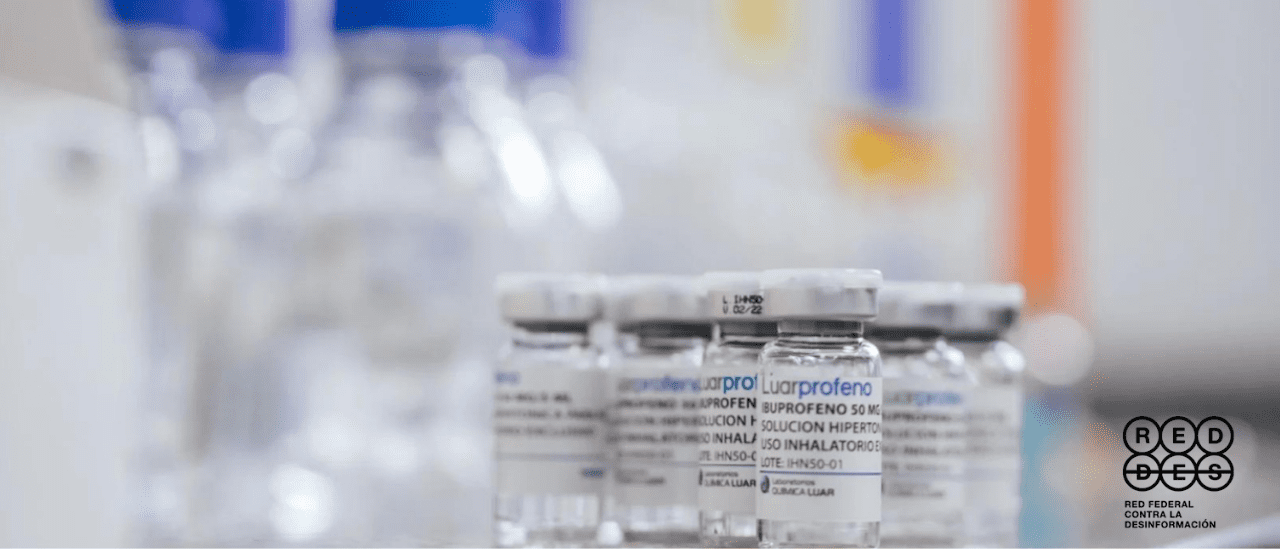 Ibuprofeno inhalado: la ruta de la desinformación de este posible tratamiento