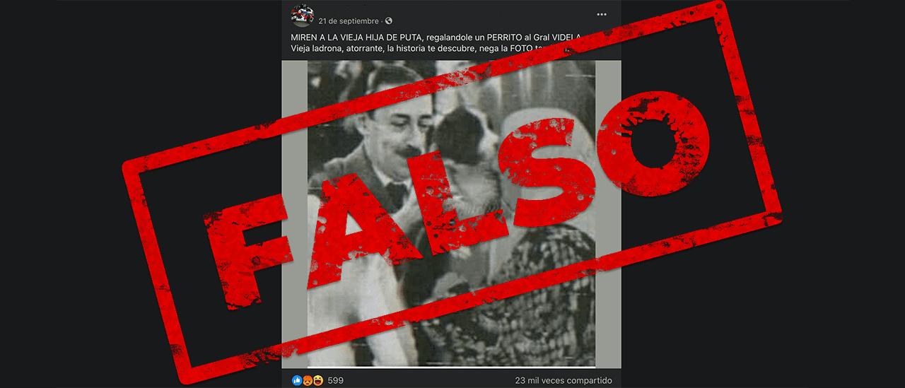 No, es falsa la foto de Hebe de Bonafini y Jorge Videla juntos
