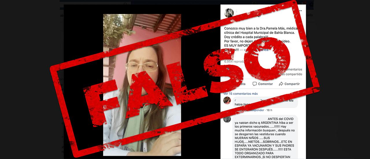 Son falsas las afirmaciones sobre el proyecto de ley de vacunas de la médica Pamela Mas
