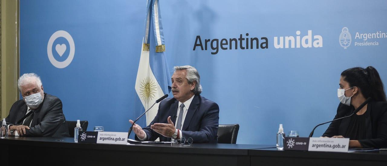 Alberto Fernández anunció que el distanciamiento social se mantiene hasta el 20 de diciembre
