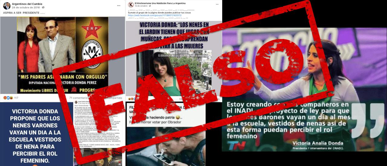 La ruta de las desinformaciones sobre Victoria Donda