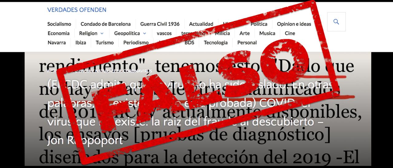 Es falso que Estados Unidos admitió que no está probada la existencia del nuevo coronavirus