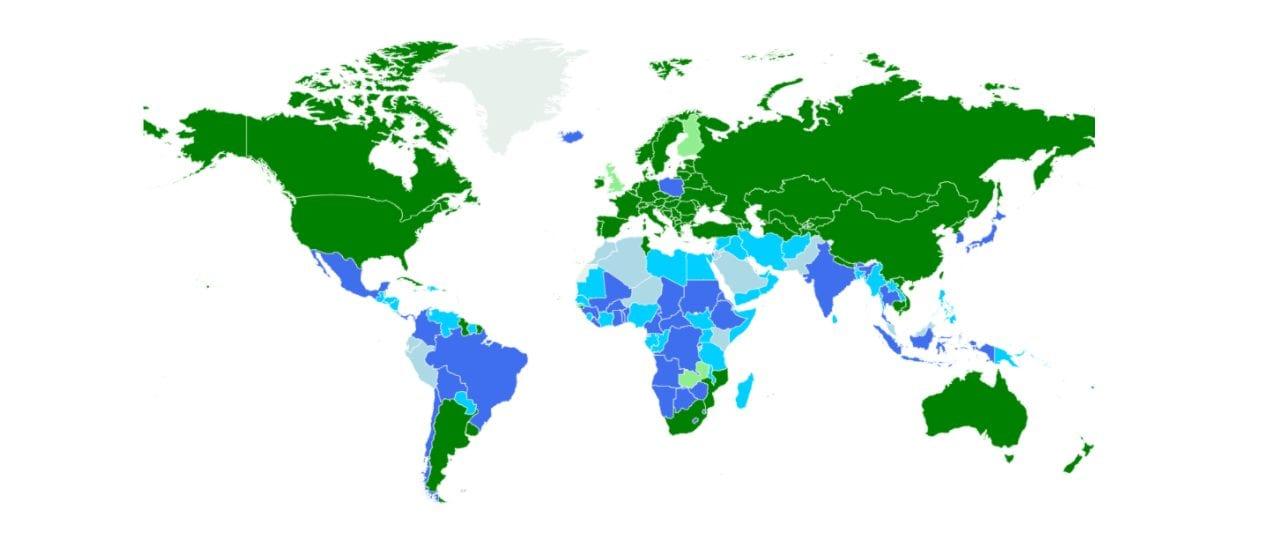 ¿Cuál es la situación legal del aborto en cada país?