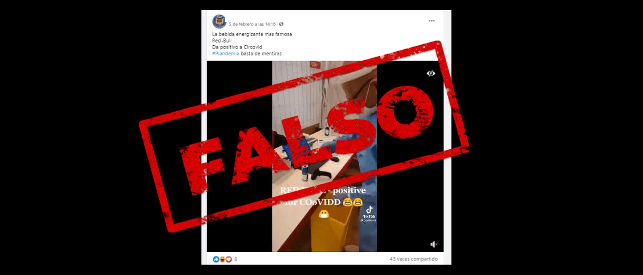 No, este video no prueba que una lata de Red Bull dio positivo de coronavirus