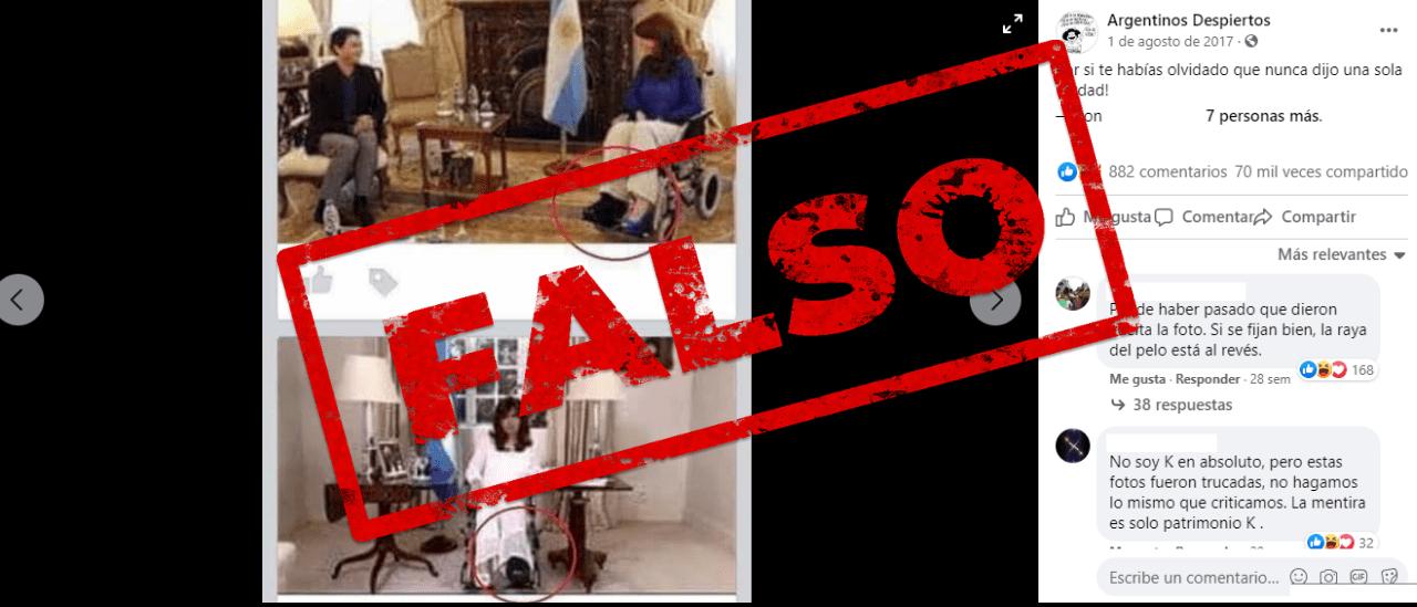 No, no es cierto este posteo que señala que Cristina Fernández de Kirchner mintió con la fractura de tobillo en 2015