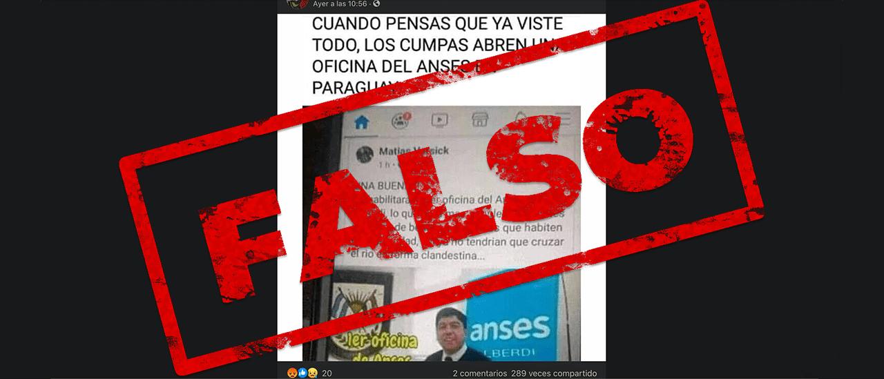 No, no se abrió una oficina de la ANSES en Paraguay